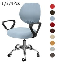 Chair Covers Swivel Spandex Cover Removable Washable Rotating Lift Cushion Office Slipcovers Elastic Arm Seat