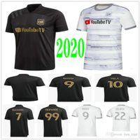2020 2021 New Los Angeles FC Soccer Jerseys Vela Gaber Rossi Cimpan Zimmerman Benedizione Benedizione Custom Home Away LaFC Camicia da calcio per adulti adulti