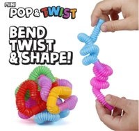 Mini Tube Twist Tubes Fidget Toy Fun Game Stress Anxiety Relief Squeeze Pipes Stretch Telescopic Bellows Finger toys