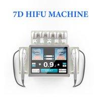 Professional 7D HIFU face lifting wrinkle removal beauty machine eyelid lift eye 2mm depth cartridges 140,000 shots used spa equipment
