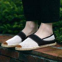 Erkek Rahat Ayakkabılar Loafer'lar Erkek Flats Dokuma Balıkçı Ayakkabı Erkek El Yapımı Daire Espadrilles Zarif Sürüş Ayakkabı890 R3QG #