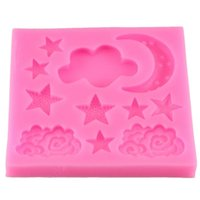 2 Colors Silicone Mold Star Moon Shape Silicone Mould DIY Fo...