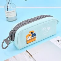 Storage Bags Large Capacity Cartoon Pencil Bag Brush Wrap Holder Case Cosmetic Makeup Coin Pouch Pen For School Students