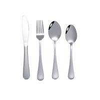 Набор посудов из нержавеющей стали серебра 1010, набор из четырех частей, нож / ложка / вилка / ложка, можно использовать для дома и пикника