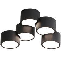 أضواء السقف Botimi Home Deco مصمم أبيض دائري سطح مكتفيد داخلي مصابيح نوم معدنية سوداء في نمط رواية