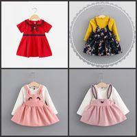 Abiti da donna a buon mercato Designer di primavera Designer della primavera Bambino sveglio del neonato per i vestiti del vestiti del vestito da bambina dei piccoli neonati 509 y2