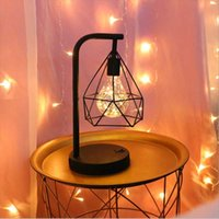 Table Lamps Wrought Iron Led Night Light Creative Lamp Bedroom Bar Cafe Decoration Charging Christmas Gift Atmosphere