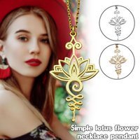 Decorative Objects & Figurines Lotus Radiance Necklace For Women Girls Flower Shaped Pendant Neck Chain Yoga Prayer Jewelry Gifts JS23