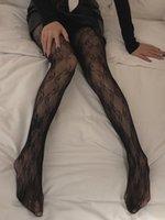 Mujer sexy encaje medias de la moda patrón largo calcetines largos medias clásicas hosiery mujeres leggings mujeres medias letra impresión interior ropa interior