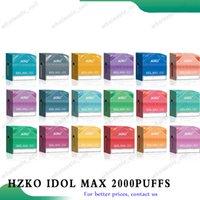 100 % 정통 Hzko 우상 최대 일회용 전자 담배 vape 펜 1100mAh 배터리 2000 퍼프 미리 채워진 6.5ml 포드 비어 있음