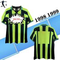 Top 1998 1999 Adam Ster Uzakta Gömlek Retro Futbol Formaları Lee Crooks Goater Vaughan Wiekens Horlock 98 99 Şehir Klasik Retro Futbol Gömlek