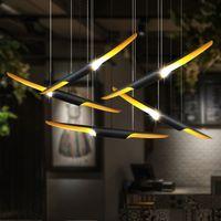 60cm 80cm 100cm contemporary creative aluminum black pipe pendant lamps chandelier lights for foyer dining room restaurant hotel decoration