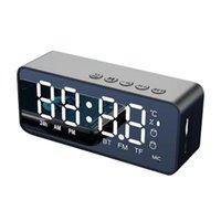 G50 Wireless Bluetooth Speaker With FM Radio, Mini Portable Card Mirror Alarm Clock Sound, Dual Alarm-Clock Settings