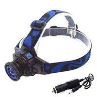 XPE Q5 3-Mode-LED-Scheinwerfer-Batterie-Akku wiederaufladbarer Kopflaterne Zoom-Kopf-Licht-Fackel mit Autoladegerät für das Arbeitslauf