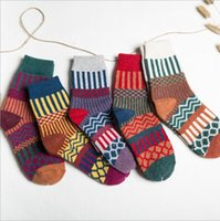 Tianlai estilo étnico engrossado meias femininas meiery flw044 moda senhora presente coelho lã mid-tube meias