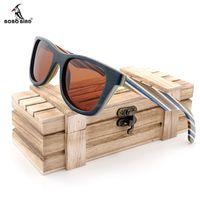 Bobo Kuş Ahşap Güneş Gözlüğü Kadın Erkek 2020 Polarize Güneş Gözlük Bayanlar Bambu Bombo BoxDrophipping X0125