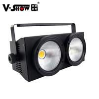 V-Show 1 PC LED Blinder Efekty 2 Głowice 2 * 100 W 2w1 COB WW / CW WarmWhite / CoolWhite Scena Light
