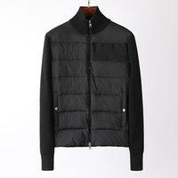Francia Alta calidad para hombre chaqueta letra logo hecho punto panel casual abrigos bomber chaquetas diseñadores hombres ropa