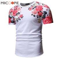 Летние красивые цветы напечатанные футболки для мужчин / для женщин Harajuku Цветочный с коротким рукавом TEE рубашка Homme Streetwear CamiSeta Hombre