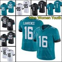 "16 Trevor Lawrence 85 Tim Tebow Jacksonville ""Jersey de football Josh Robinson Jaguar"" 1 Travis Etienne Mens Femmes Jeunes enfants"