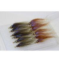 Tigofly 12 шт. Коричневый оливковый ультрафиолетовый полярной жарку медленно тонущая лосось форель стали Minnhead Minnow Рыбалка летает L JLLSJZ INSYARD
