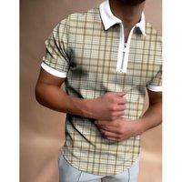 복잡하지 않은 패턴 남성용 지퍼 폴로 셔츠 고품질의 편안한 통기성 유행 멋진 일상적인 여행 일