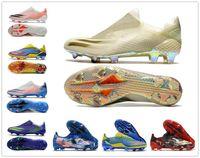 2021 Orijinal Yeni X Ghosted.1 FG Erkek Kadın Erkek Ghosted .1 Dantel-up Futbol Ayakkabı Çizme Futbol Cleats