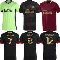 MLS 2021 2022 MLS Atlanta United FC Green Martínez Soccer Jersey Home Alojamiento 22 G.Martinez Nagbe Barco Villalba Black Road Football Shirts