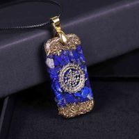 Lapis Lazuli Orgone Energy Piedras Naturales Collar Reiki Crystal Colgante Curación Joyería para Mujeres