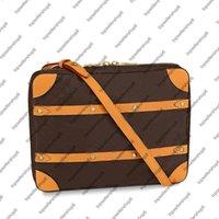 جودة عالية M68494 لينة جذع رسول مساء قماش حمل الرجال مصمم الأصلي جلد البقر الشريط شريط حقيبة محفظة حقيبة الكتف 3 الحجم
