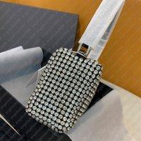 Tasarımcı Omuz Çantaları Kadın Mini Çanta Elmas Kristal Çantalar Ile Kristal Çantalar Debriyaj Parti Siyah Hakiki Deri En Kaliteli Cüzdan Lüks Çanta