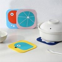 Heat insulation pad home dining mat, waterproof mat coaster, table mat silicone anti-scald soft tea coaster bowl mat practical and beautiful