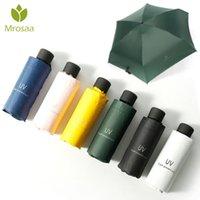 Зонтики morosaa маленькая мода складной зонтик дождь женщины подарок мужчина мини карманный парасоль девочек анти-уклон водонепроницаемый портативный