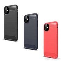 Высокое качество TPU Carbone Fibre Case для iPhone 6 7 8 x 11 серии три цвета Samsung Galaxy Note10 Note 10Pro крышка кожи