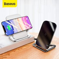 Baseus 10W QI Wireless Charger Stand For iPhone 12 Pro 11 X XS XR 8 Samsung S10 S9 S8 XiaoMi Fast Wireless Charging Phone Holder