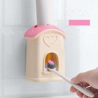 Полки для ванной комнаты Защита от окружающей среды Материал автоматической зубной пасты Установленная настенная зубная щетка стойка ленивый сжатие артефакт 4014