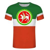 Men's T-Shirts Tatarstan Bulgar Republic Custom MEN T Shirt Russian Text Diy TATAR Hockey Team Sport Independent Country Flag