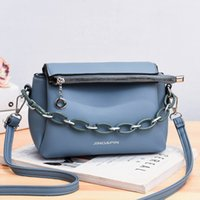 Scrub Leather Crossbody Bags For Women 2020 Chain Shoulder Messenger Bag Lady Travel Luxury Handbags and Purses C2