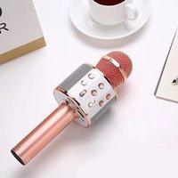 2pcs nave! Microfono portatile WS858 Microfono portatile Bluetooth KTV 858 microfono con altoparlante Microfono altoparlante portatile Karaoke Player