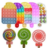 A variety of lollipops, pop news and exotic toy for decompression, Push Bubble Sensory Toys Autism Special Needs Stress Reliever