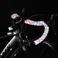 Bike Handlebars &Components Bicycle Fork Grip Tape Road Noctilucent Handlebar Tapes Light Reflective Dazzle Cycling Bar MTB PU Leather Color