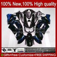 Verkleidungsset für Kawasaki Ninja 650r ER 6F ER 6 F Blue Flames HOT ER6F-650R 29HC.14 ER6 F 650 R ER6F 06 07 08 ER-6F 2006 2007 2008 Ganzkörper