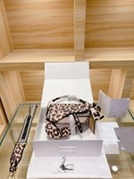 2021 Mulher Designer Canvas Leopard Leopard Imprimir Saco De Ombro
