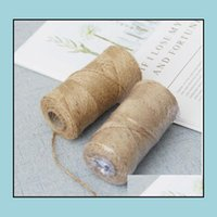 Wrap Event Festive Party Supplies Home & Garden1Roll 100M Natural Hessian Jute Twine Burlap String Rope Rustic Wrap Gift Packing Cords Threa