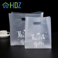 50 PC 플라스틱 선물 가방 핸들과 플라스틱 쇼핑백 크리스마스 웨딩 파티 호의 가방 사탕 케이크 포장