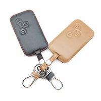 Couverture de voiture Cuir Coffre Coque Peau Protecteur de peau pour Renault Clio Megane 2 3 Koleos Logan Scenic 3 Boutons Smart Card