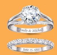 Wedding Rings Fashion Temperament Female Ring Inlaid Big Round White Hollow Set 2021 Latest Ladies Jewelry