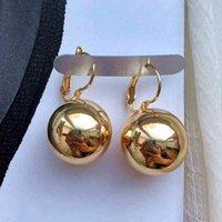 Smooth Ball-Shape Drop Dangle For women Creative White/Golden/Rosegold Pandent Earring Charming Female Ear 2021