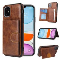 high quality pu Leather Wallet Phone Cases For iPhone 13 12 Pro Max 11 XS XR X 7 8 Samsung note20 ultra Plus thin Portable Holder kickstand Cover With Card Slot Case
