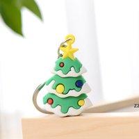 Party Supplies Christmas Doll Keychain Pendant Santa Claus Elk Xmas Tree Ornaments Kids Gifts HWE9459